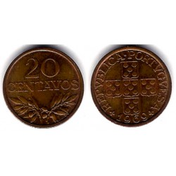 (595) Portugal. 1969. 20 Centavos (SC)