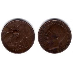 (60) Italia. 1925R. 10 Centesimi (MBC)