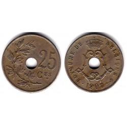 (62) Bélgica. 1909. 25 Centimes (BC)