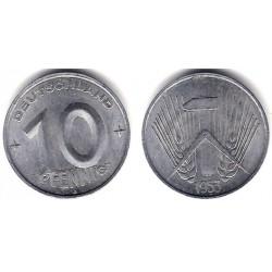 (7) Alemania Democrática. 1953(A). 10 Pfennig (EBC)