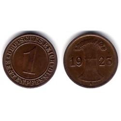(37) Imperio Alemán (Weimar). 1923(A). 1 Pfennig (MBC)