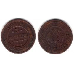 (Y11.2) Imperio Ruso. 1905. 3 Kopeks (MBC)