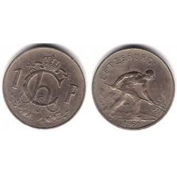(46.2) Luxemburgo. 1960. 1 Franc (MBC)