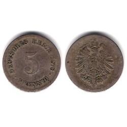 (11) Imperio Alemán. 1876(D). 5 Pfennig (RC)