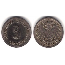 (11) Imperio Alemán. 1894(A). 5 Pfenning (MBC)