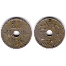 (823.2) Dinamarca. 1932. 25 Ore (MBC-)