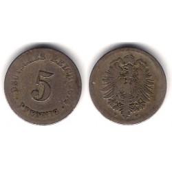 (11) Imperio Alemán. 1874(F). 5 Pfennig (BC-)