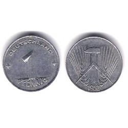 (5) Alemania Democrática. 1952(E). 1 Pfennig (MBC+)