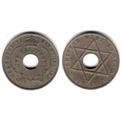 (15) África Oeste Británica. 1937. Half Penny (MBC)