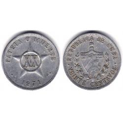 (35.1) Cuba. 1971. 20 Centavos (MBC)