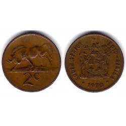 (83) Sudáfrica. 1970. 2 Cents (MBC)
