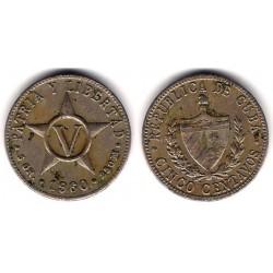 (11.3) Cuba. 1960. 5 Centavos (BC)