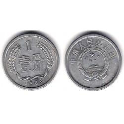 (1) China. 1980. 1 Fen (MBC)