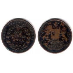 (446.2) India Británica. 1835. Quarter Anna (BC)