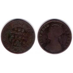 (486) India Británica. 1893. Quarter Anna (BC)