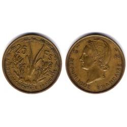 (7) África Occidental Francesa. 1956. 25 Francs (MBC)
