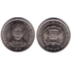 (44) República Dominicana. 1976. Medio Peso (EBC)