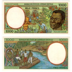 (302Fb) Estados África Central. 1994. 1000 Francs (SC)