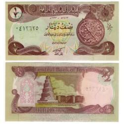 (78a) Iraq. 1993. ½ Dinar (SC)
