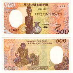(8) Gabón. 1985. 500 Francs (SC)