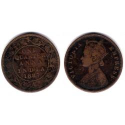(486) India Británica. 1887. Quarter Anna (MBC)