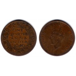 (530) India Británica. 1940. Quarter Anna (BC+)