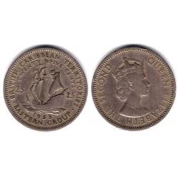 (6) Estados Orientales Caribeños. 1955. 25 Cents (MBC-)