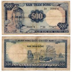 (23a) Vietnam del Sur. 1966. 500 Dong (BC)