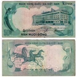 (30a) Vietnam del Sur. 1972. 50 Dong (BC)