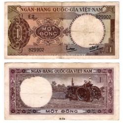 (15a) Vietnam del Sur. 1964. 1 Dong (BC)