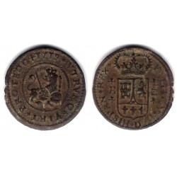 Felipe V. 1719. 2 Maravedi (BC-) Ceca de Burgos