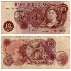 (373b) Gran Bretaña. 1960. 10 Shillings (BC)
