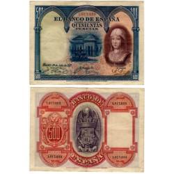 España. 1927. 500 Pesetas (MBC)