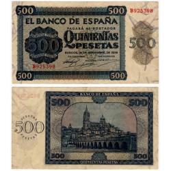 Estado Español. 1936. 500 Pesetas (MBC+) Serie B