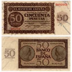 Estado Español. 1936. 50 Pesetas (EBC) Serie O