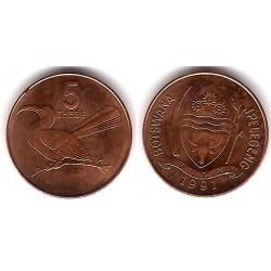 (4a.1) Botswana. 1991. 5 Thebe (SC)
