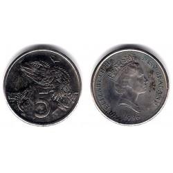 (60) Nueva Zelanda. 1996. 5 Cents (SC)