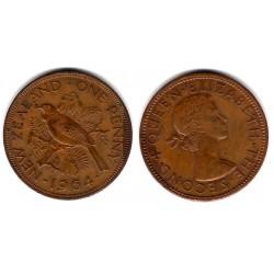 (24.2) Nueva Zelanda. 1964. 1 Penny (MBC)