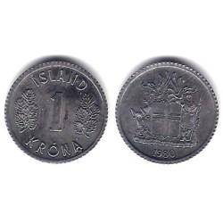 (23) Islandia. 1980. 1 Krona (SC)