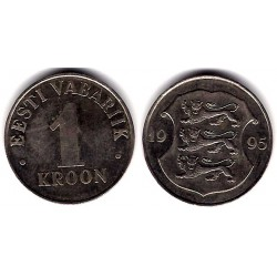 (28) Estonia. 1995. 1 Kroon (MBC)