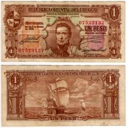 (35c) Uruguay. 1939. 1 Peso (MBC)