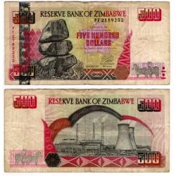 (11a) Zimbabue. 2001. 500 Dollars (BC)