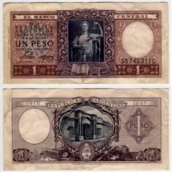 (263) Argentina. 1956. 1 Peso (MBC-)