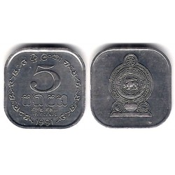 (139a) Sri Lanka. 1991. 5 Cents (SC)