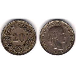 (29a) Suiza. 1943. 20 Rappen (MBC)