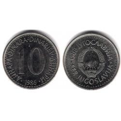 (89) Yugoslavia. 1986. 10 Dinara (EBC+)