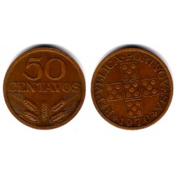 (596) Portugal. 1970. 50 Centavos (MBC+)