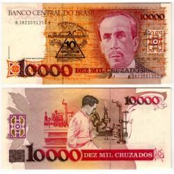 (218a) Brasil. 1989-90. 10 Cruzados Novos (SC)