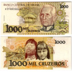 (231a) Brasil. 1990-91. 1000 Cruzeiros (SC)