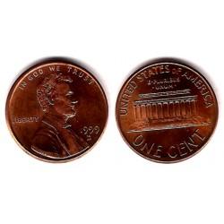 (201) Estados Unidos de América. 1999(D). 1 Cent (EBC)